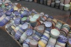 Cuvettes chinoises de porcelaine Image stock