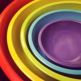 Cuvettes colorées Photo stock