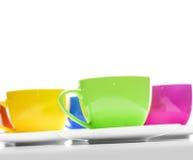 Cuvettes colorées Photographie stock