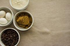 Cuvettes d'ingrédients Image libre de droits