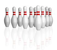 Cuvettes de bowling photo stock