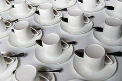 Cuvettes de café Photographie stock
