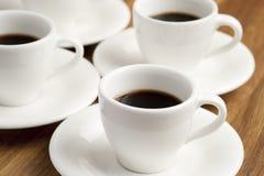 Cuvettes de café. Photos libres de droits