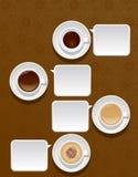 Cuvettes de café Images libres de droits