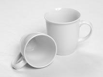 Cuvettes de café blanc Image libre de droits