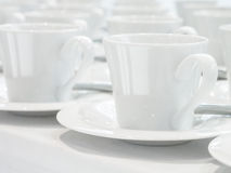 Cuvettes de café blanc Images stock