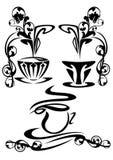 Cuvettes de café chaudes Image libre de droits