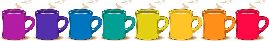 Cuvettes de café colorées Photos libres de droits