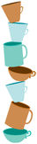 Cuvettes de café empilées Photographie stock libre de droits