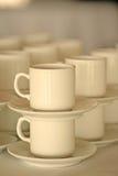 Cuvettes de café empilées Image libre de droits