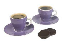 Cuvettes de café express Image libre de droits