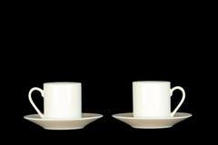 Cuvettes de café express Photographie stock libre de droits