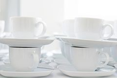 Cuvettes de café vides Photo stock