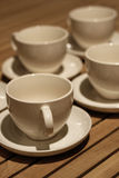 Cuvettes de café vides Photo libre de droits