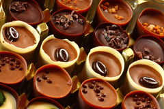 Cuvettes de chocolat Image stock