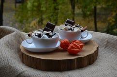 Cuvettes de coffe Image libre de droits