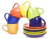cuvettes de couleur Image libre de droits