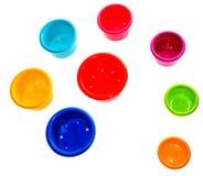 Cuvettes de la pièce d'enfants Photo stock