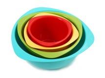 Cuvettes de mélange colorées Image libre de droits