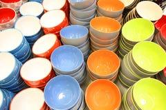 Cuvettes de porcelaine Photographie stock libre de droits