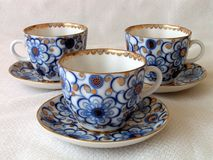Cuvettes de thé. Photographie stock libre de droits