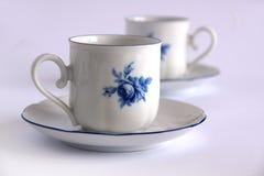 Cuvettes de thé antiques de porcelaine Images stock