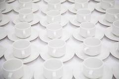 Cuvettes de thé blanches Image stock