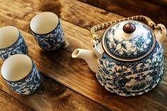 Cuvettes de thé chinoises Image libre de droits