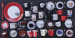 Cuvettes de thé et de café Image libre de droits
