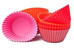 Cuvettes de traitement au four de silicones pour les pains ou le gâteau Photographie stock libre de droits