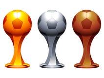 Cuvettes de trophée du football. Image libre de droits