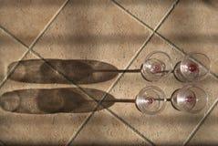 Cuvettes de vin Photographie stock