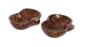 Cuvettes en bois effectuées à partir du manguier Images libres de droits