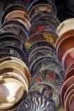 Cuvettes en bois peintes, Afrique du Sud Photographie stock libre de droits