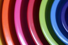 Cuvettes en plastique Images stock