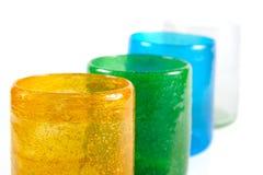 Cuvettes en verre colorées multi Image libre de droits