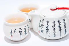 Cuvettes et bac de thé Images stock