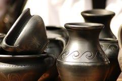 Cuvettes fabriquées à la main - Roumanie Image libre de droits