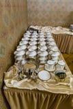 Cuvettes pour le thé et le café Photographie stock