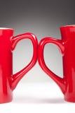 Cuvettes rouges de traitement Images stock