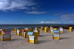 海滩cuxhaven 免版税库存照片