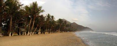 Cuyagua strandlandskap, venezuelan strand fotografering för bildbyråer