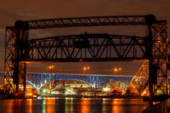 Cuyahoga-Brücken Lizenzfreie Stockfotografie