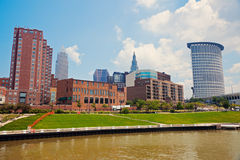 Cuyahoga River in Cleveland Stock Photos