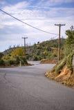 Cuyamaca back road stock image