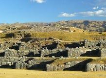 cuzco秘鲁破坏sacsayhuaman 图库摄影