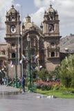 CUZCO, ΠΕΡΟΎ 8 ΜΑΡΤΊΟΥ 2016: Άποψη Plaza de Armas σε Cusco, ανά Στοκ Εικόνες