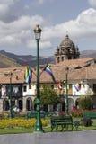 CUZCO, ΠΕΡΟΎ 8 ΜΑΡΤΊΟΥ 2016: Άποψη Plaza de Armas σε Cusco, ανά Στοκ Εικόνα