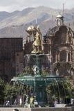 CUZCO, ΠΕΡΟΎ 8 ΜΑΡΤΊΟΥ 2016: Άποψη Plaza de Armas σε Cusco, ανά Στοκ φωτογραφία με δικαίωμα ελεύθερης χρήσης