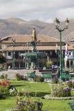 CUZCO, ΠΕΡΟΎ 8 ΜΑΡΤΊΟΥ 2016: Άποψη Plaza de Armas σε Cusco, ανά Στοκ Φωτογραφίες